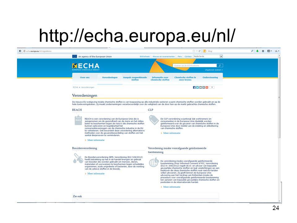 http://echa.europa.eu/nl/ 24