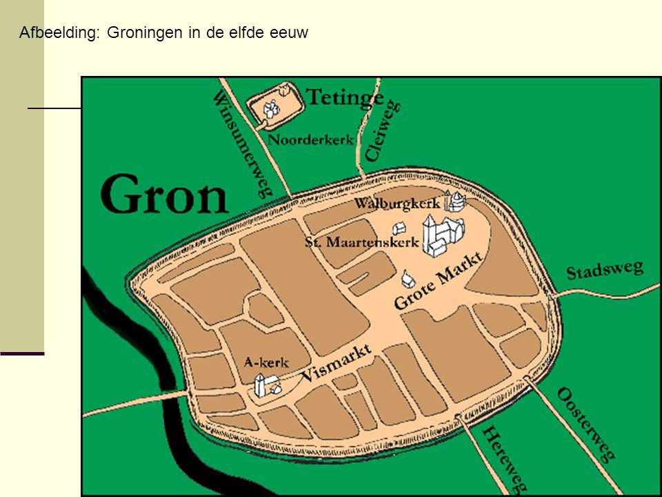 Afbeelding: Groningen in de elfde eeuw