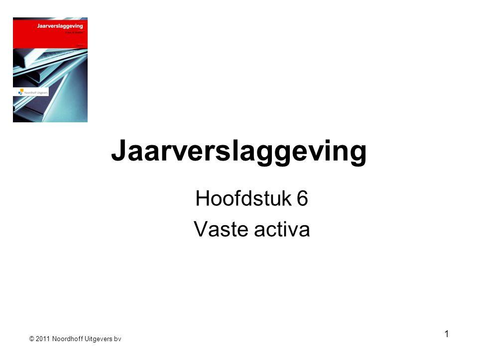 © 2011 Noordhoff Uitgevers bv 1 Jaarverslaggeving Hoofdstuk 6 Vaste activa