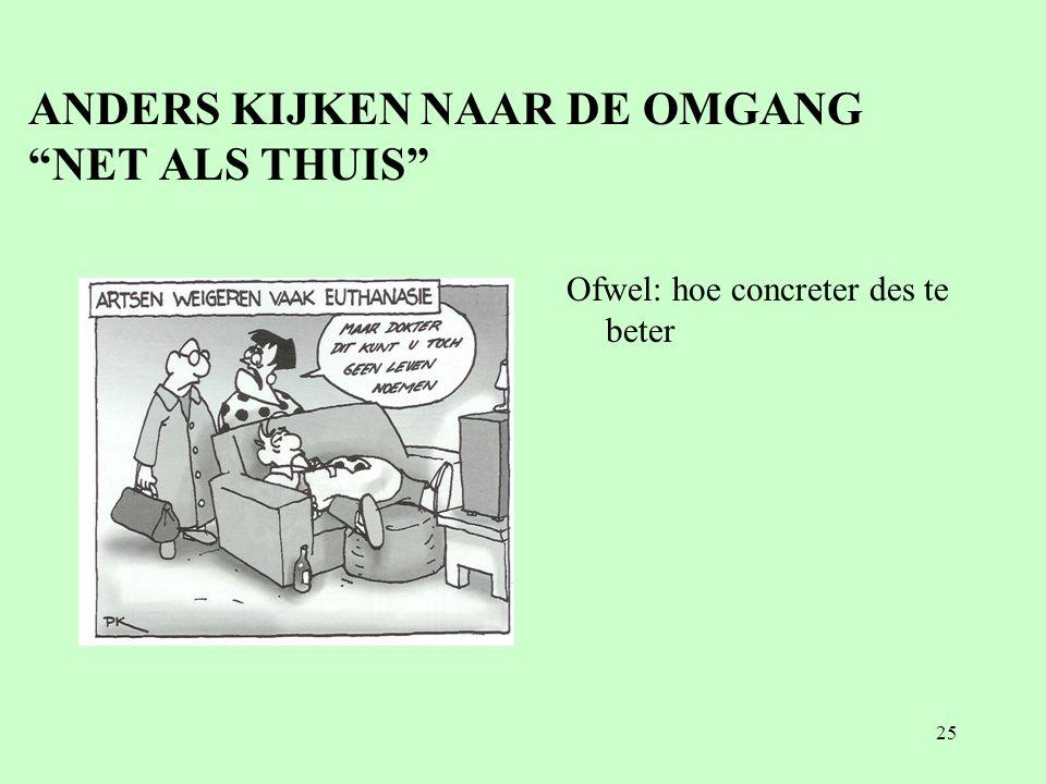 """25 ANDERS KIJKEN NAAR DE OMGANG """"NET ALS THUIS"""" Ofwel: hoe concreter des te beter"""