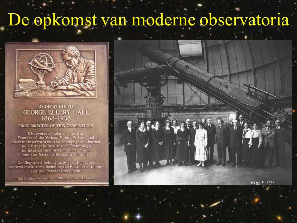 De opkomst van moderne observatoria