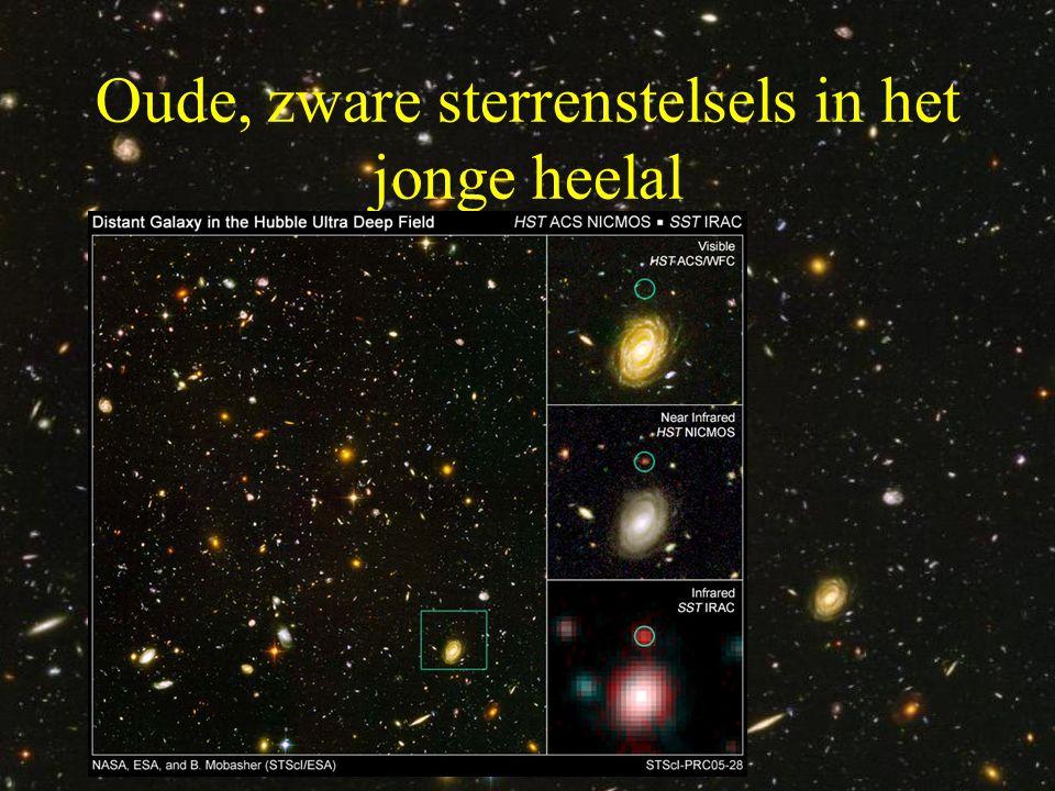 Oude, zware sterrenstelsels in het jonge heelal