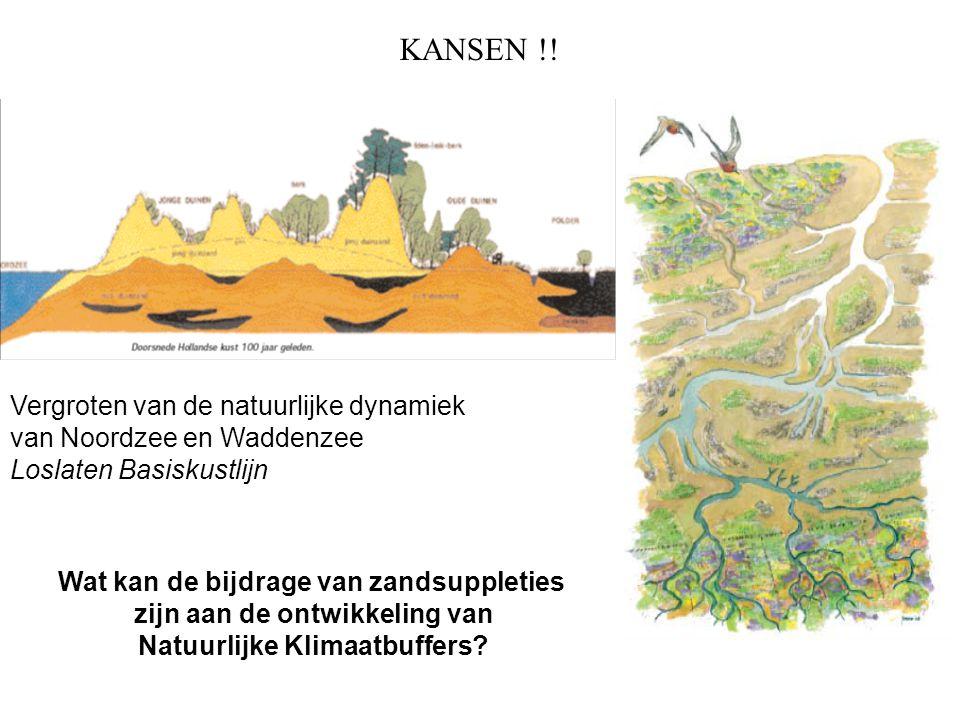 KANSEN !! Wat kan de bijdrage van zandsuppleties zijn aan de ontwikkeling van Natuurlijke Klimaatbuffers? Vergroten van de natuurlijke dynamiek van No