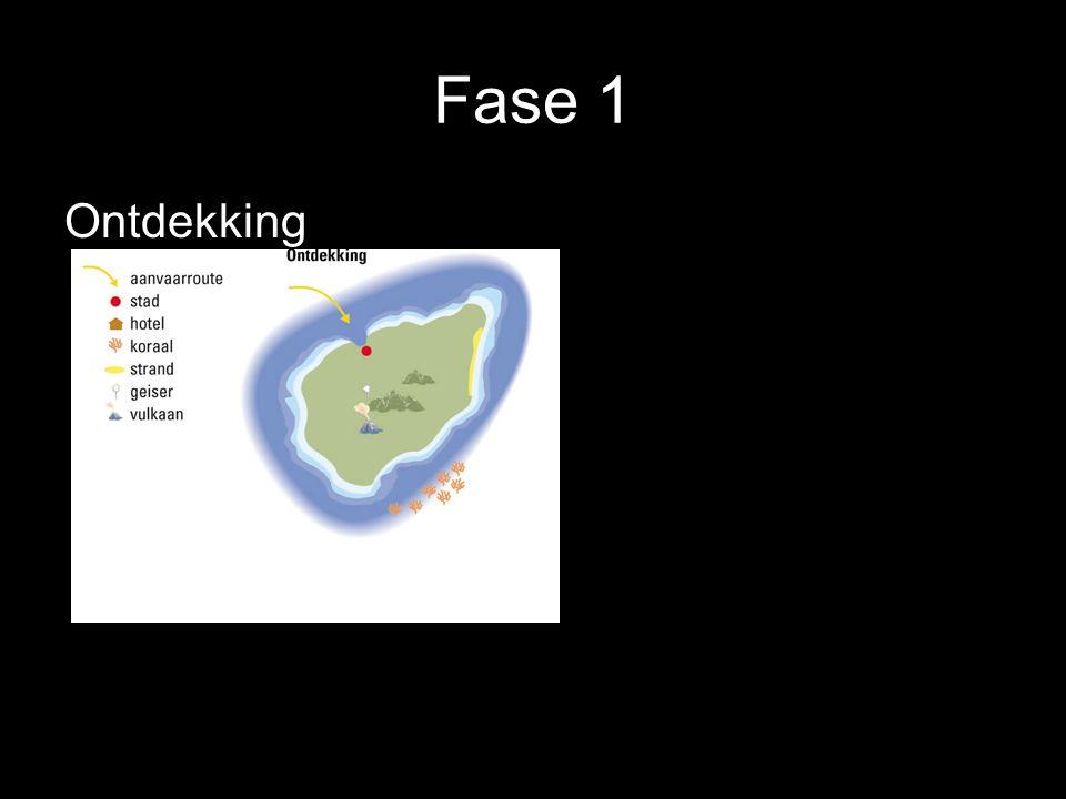 Fase 1 Ontdekking Het gebied wordt ontdekt.Meestal door het type rugzaktoerist.