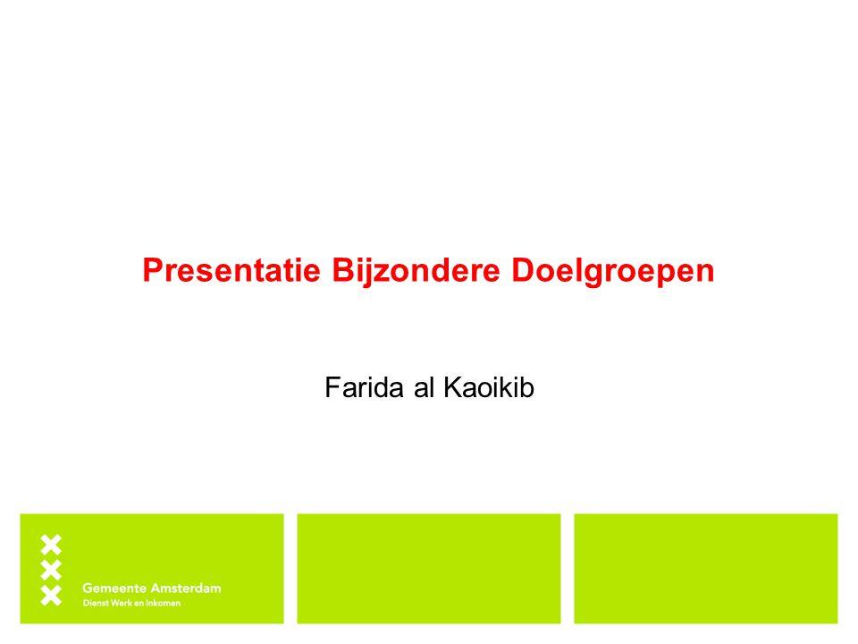 Presentatie Bijzondere Doelgroepen Farida al Kaoikib