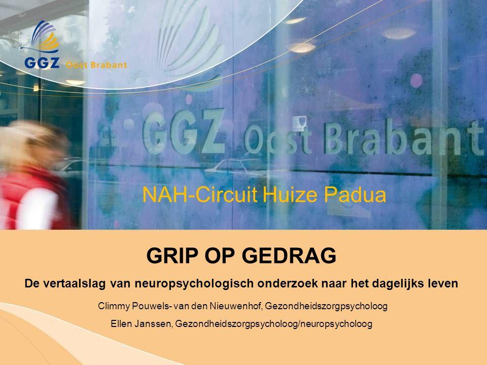 GGZ Oost Brabant Analyse van probleemgedrag Betrokkene is zich niet bewust geweest van de gevolgen van het CVA…  door blijven gaan op de oude weg; overvraging  vermoeidheid  toename cognitieve problemen en prikkelbaarheid Casus C, 48 jaar