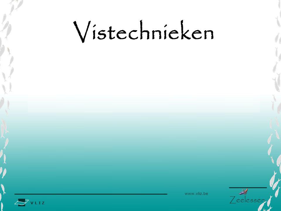 V L I Z www.vliz.be Zeelessen Vistechnieken