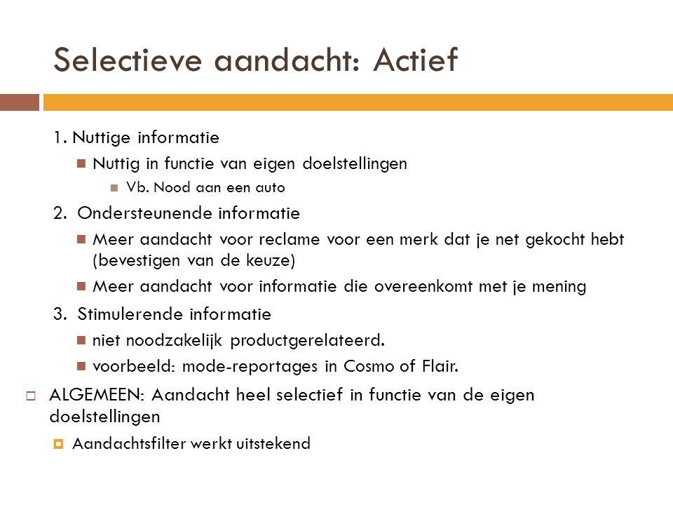 Selectieve aandacht: Actief 1.