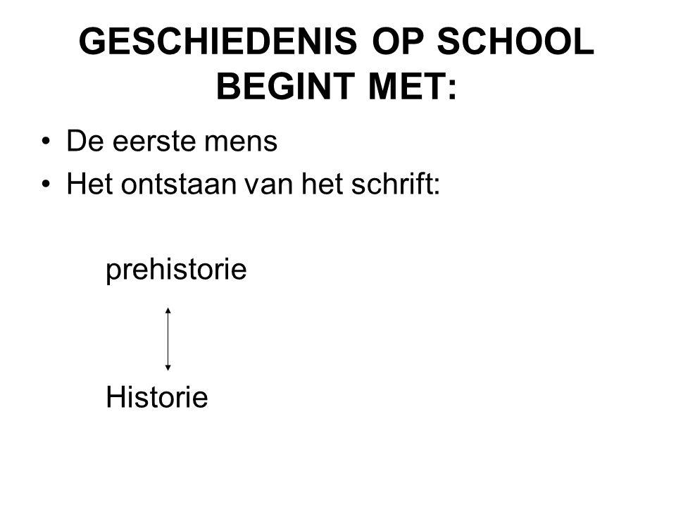GEEFT GESCHIEDENIS OP SCHOOL 'DE' GESCHIEDENIS WEER?