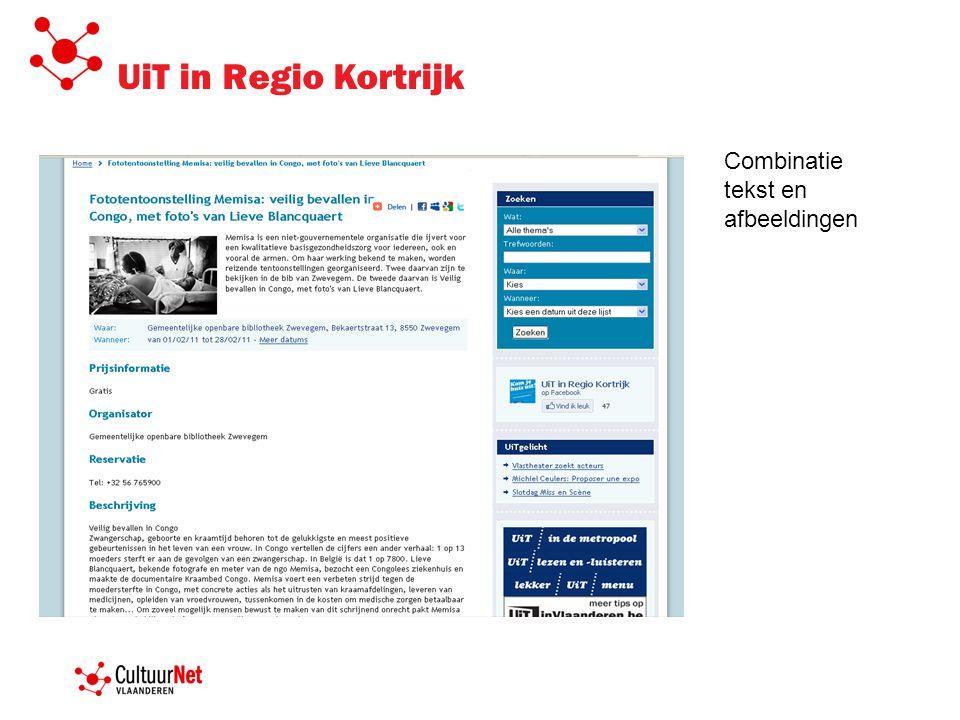 UiT in Regio Kortrijk Combinatie tekst en afbeeldingen