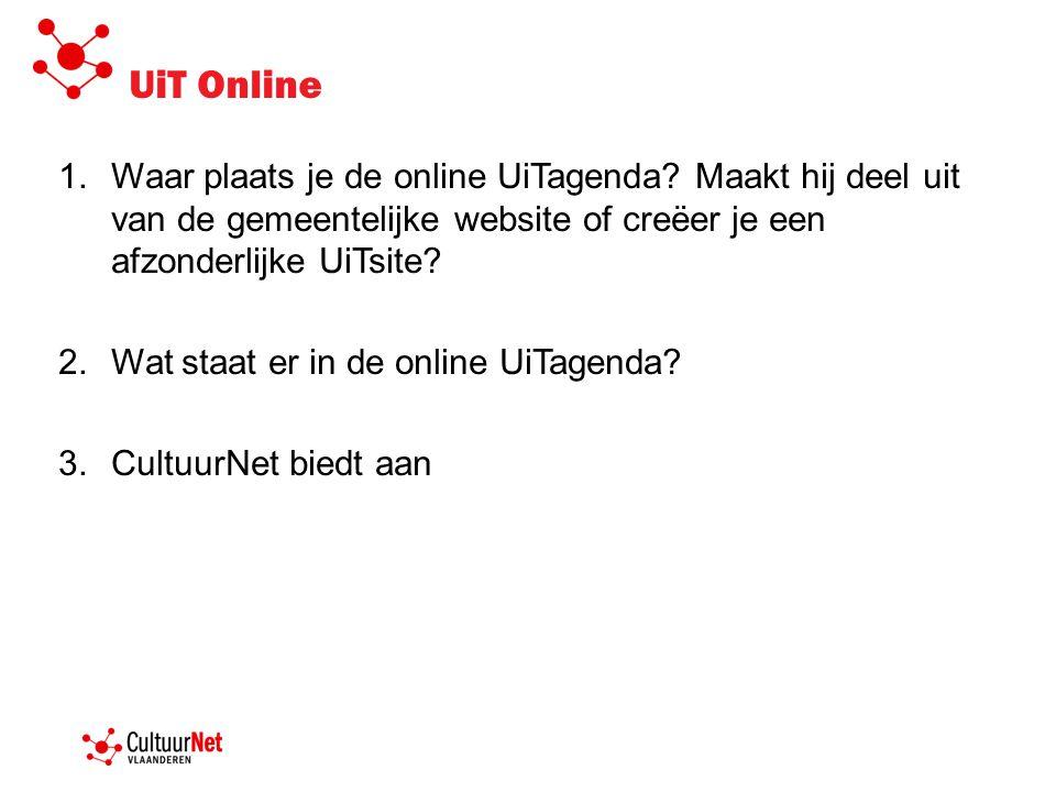 UiT Online 1.Waar plaats je de online UiTagenda.