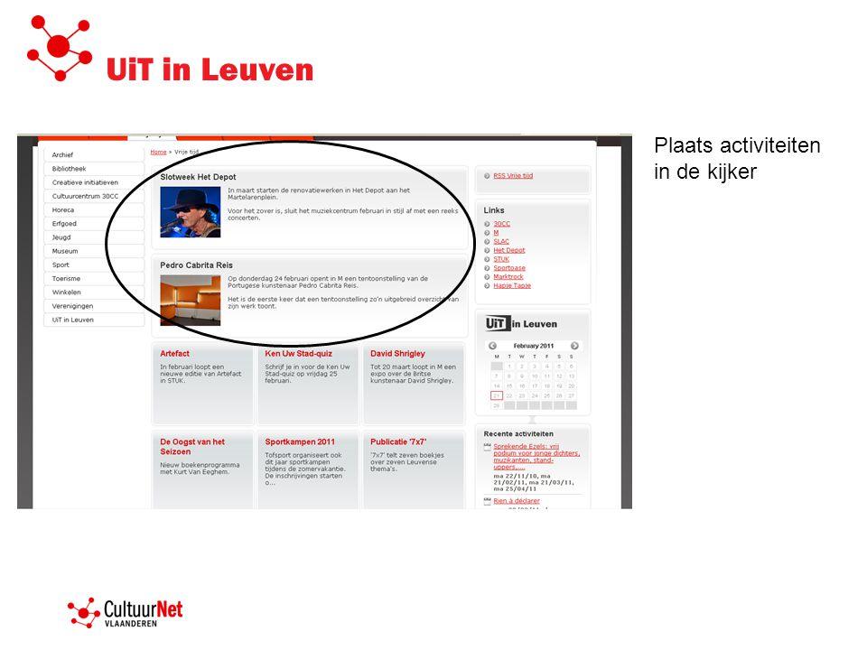 UiT in Leuven Plaats activiteiten in de kijker