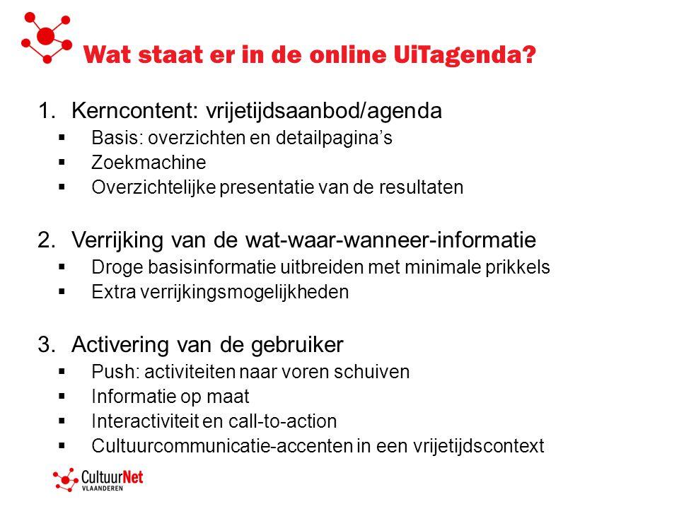 Wat staat er in de online UiTagenda.