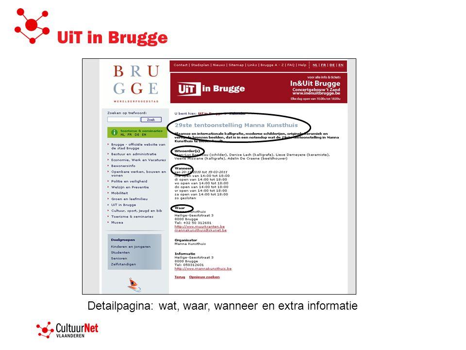 UiT in Brugge Detailpagina: wat, waar, wanneer en extra informatie