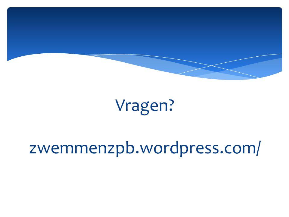 Vragen? zwemmenzpb.wordpress.com/
