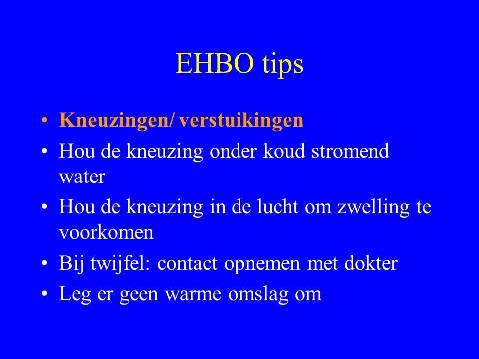 EHBO tips •Je zit vast gekneld •Controleer ademhaling, bloedcirculatie en bewustzijn •Roep medische hulp •Neem geen risico's!