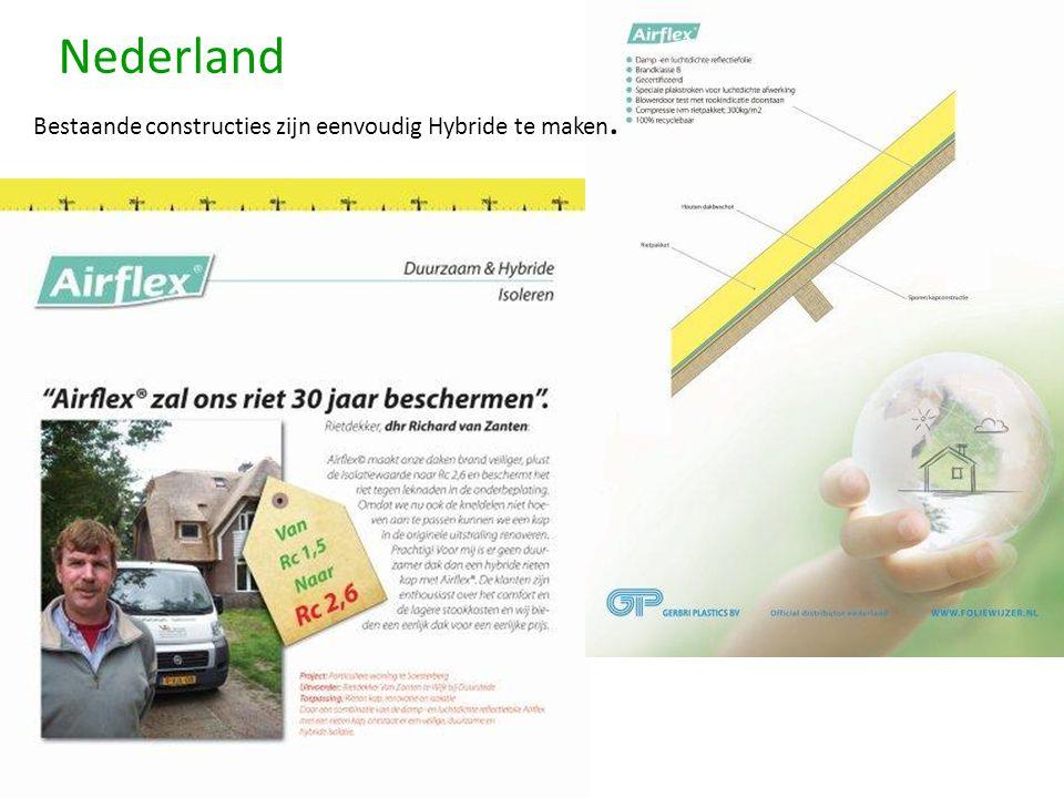 Nederland Bestaande constructies zijn eenvoudig Hybride te maken.