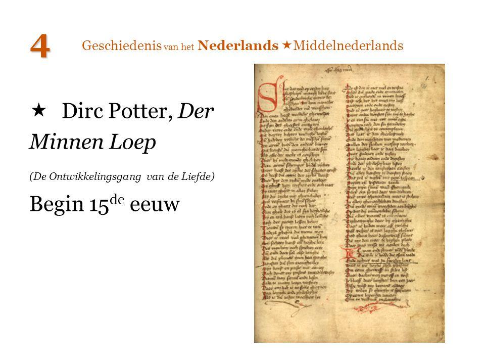  Dirc Potter, Der Minnen Loep (De Ontwikkelingsgang van de Liefde) Begin 15 de eeuw 4