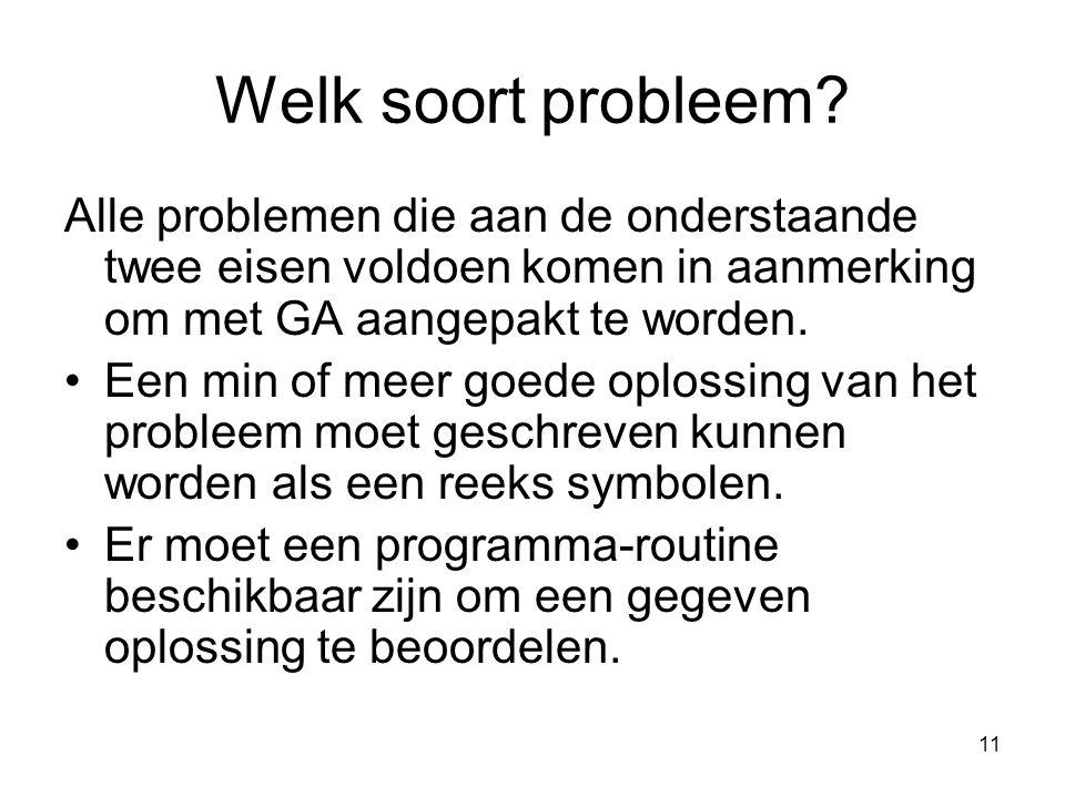 11 Welk soort probleem.