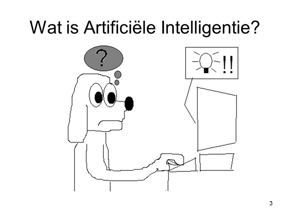 3 Wat is Artificiële Intelligentie?