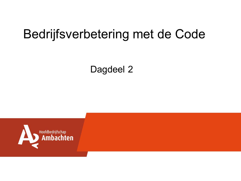 Bedrijfsverbetering met de Code Dagdeel 2