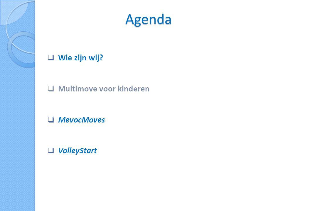Agenda  Wie zijn wij  Multimove voor kinderen  MevocMoves  VolleyStart