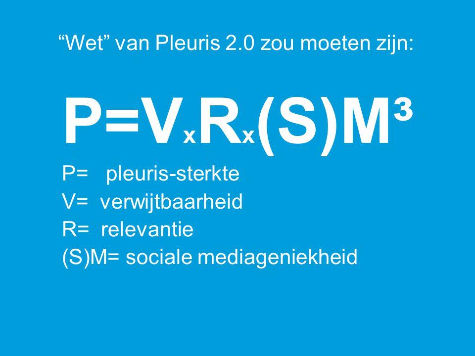 """P=V x R x (S)M³ P= pleuris-sterkte V= verwijtbaarheid R= relevantie (S)M= sociale mediageniekheid """"Wet"""" van Pleuris 2.0 zou moeten zijn:"""