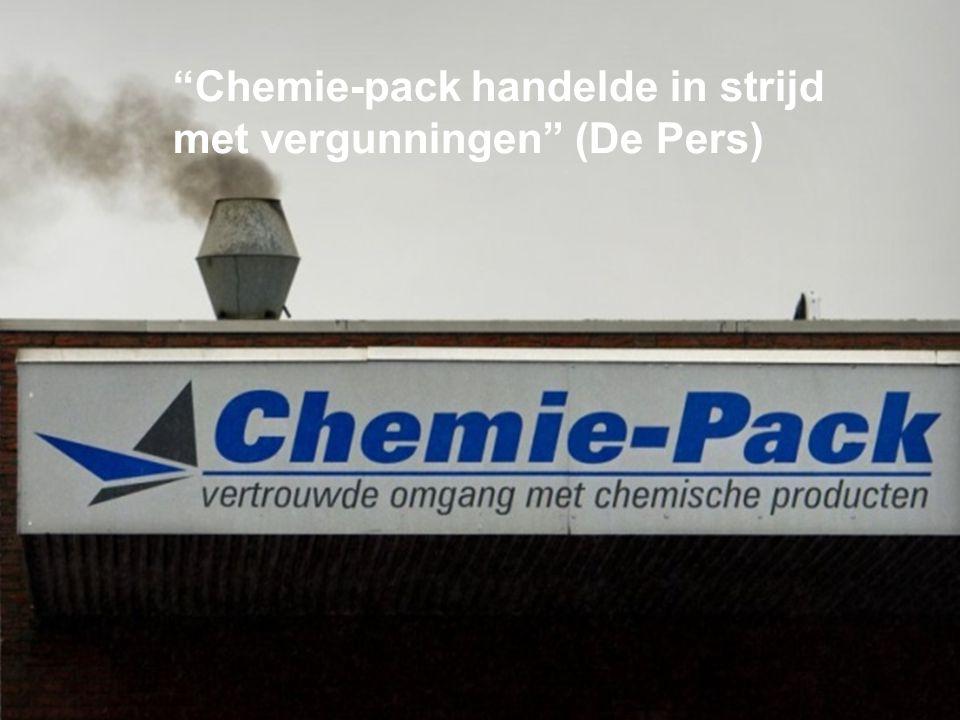 """""""Chemie-pack handelde in strijd met vergunningen"""" (De Pers)"""