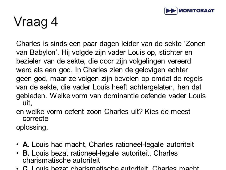 Charles is sinds een paar dagen leider van de sekte 'Zonen van Babylon'. Hij volgde zijn vader Louis op, stichter en bezieler van de sekte, die door z
