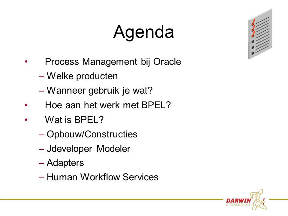2 Agenda • Process Management bij Oracle – Welke producten – Wanneer gebruik je wat.