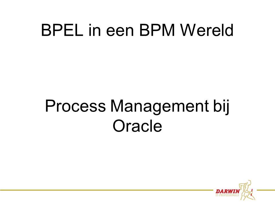 3 BPEL in een BPM Wereld Process Management bij Oracle