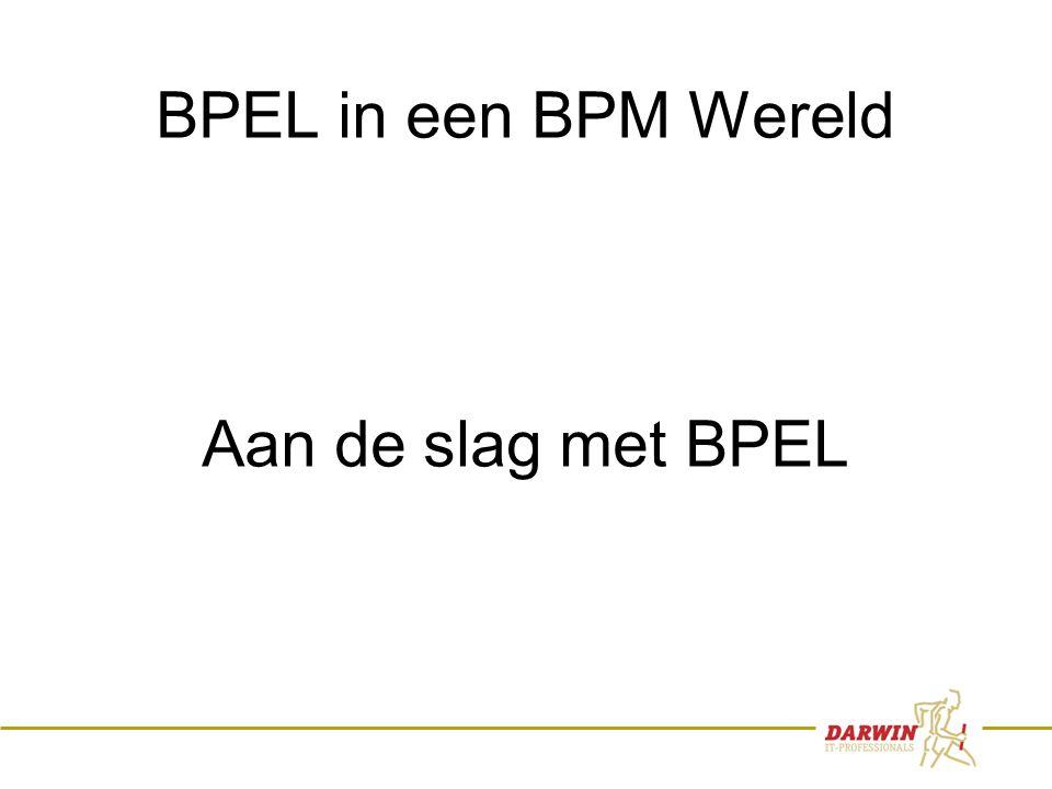 31 BPEL in een BPM Wereld Aan de slag met BPEL