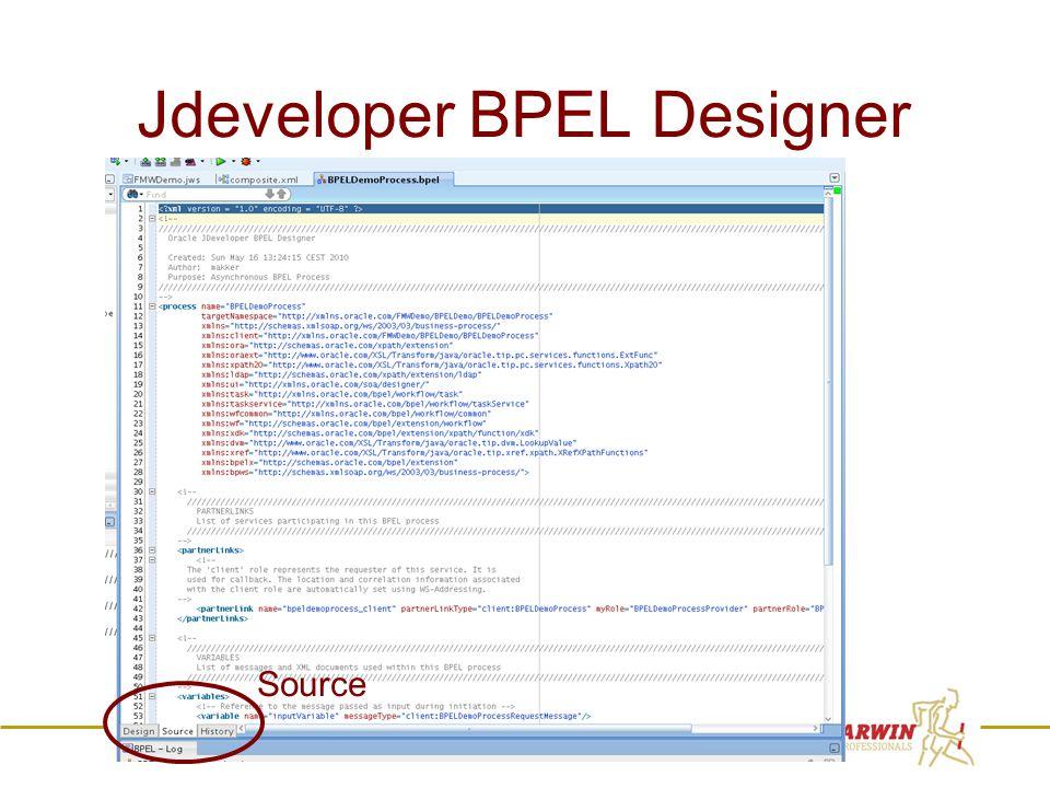 39 Jdeveloper BPEL Designer Source