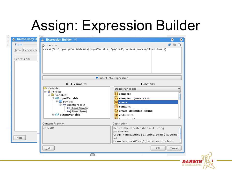 44 Assign: Expression Builder