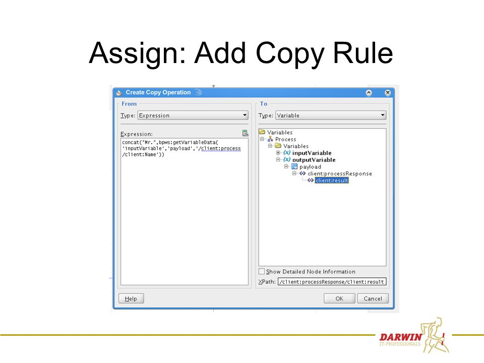 45 Assign: Add Copy Rule