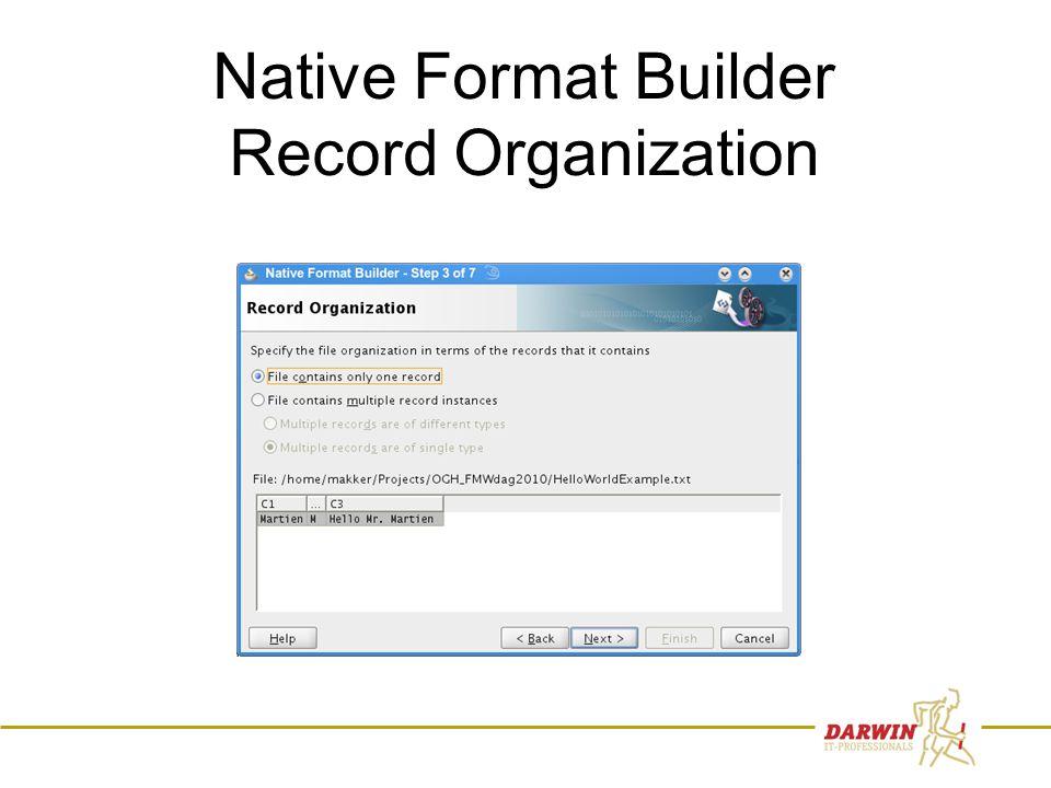 60 Native Format Builder Record Organization