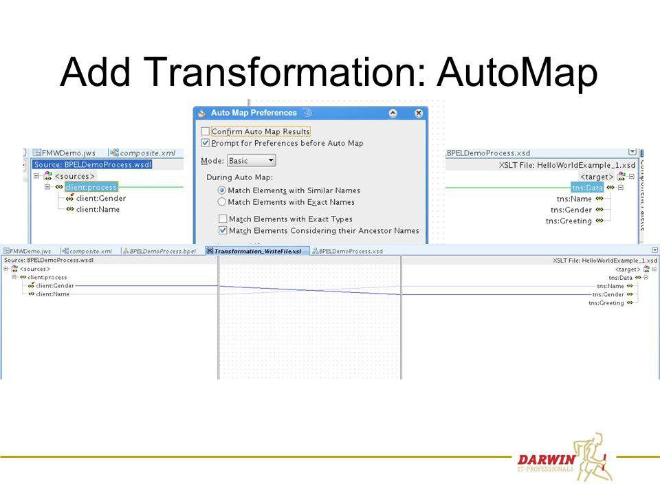 66 Add Transformation: AutoMap