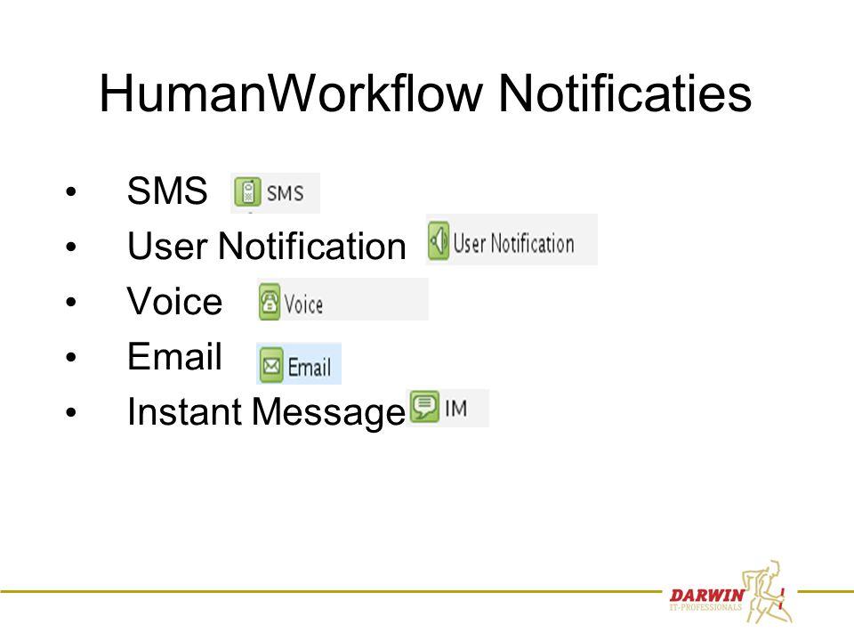 75 HumanWorkflow Notificaties • SMS • User Notification • Voice • Email • Instant Message