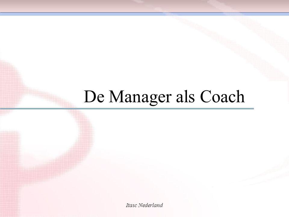 Itasc Nederland Coachen De managementstijl voor betere prestaties van individu en team De managementstijl voor betere prestaties van individu en team