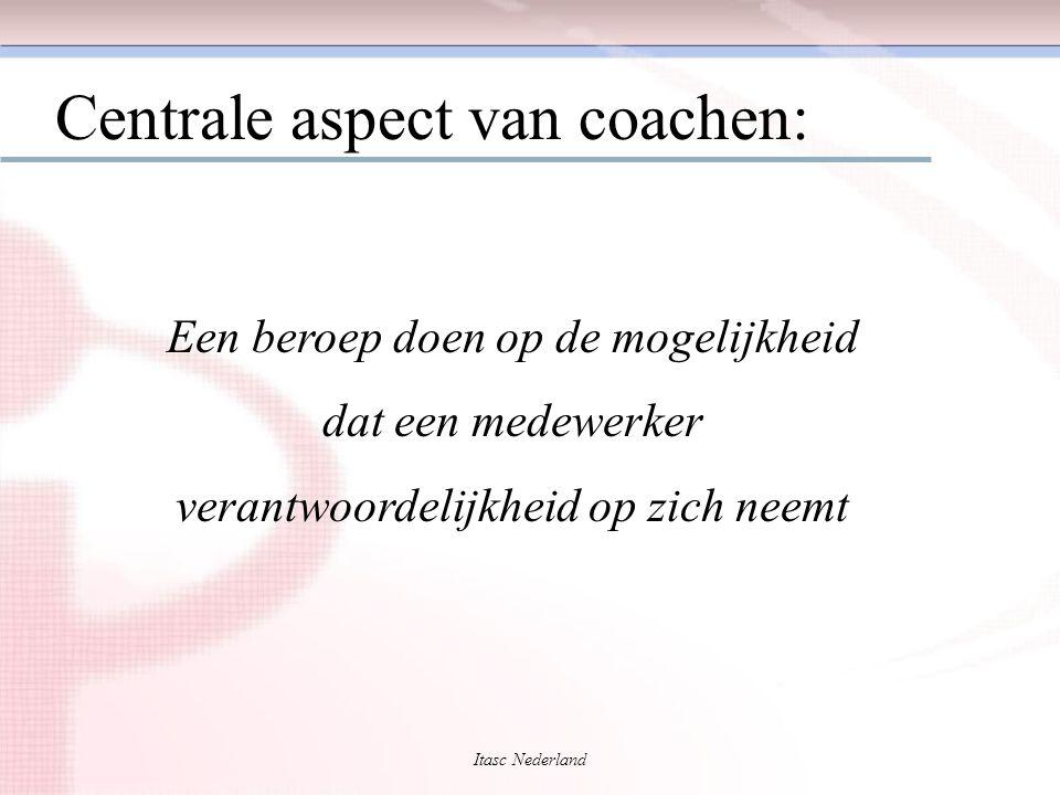Itasc Nederland Centrale aspect van coachen: Een beroep doen op de mogelijkheid dat een medewerker verantwoordelijkheid op zich neemt