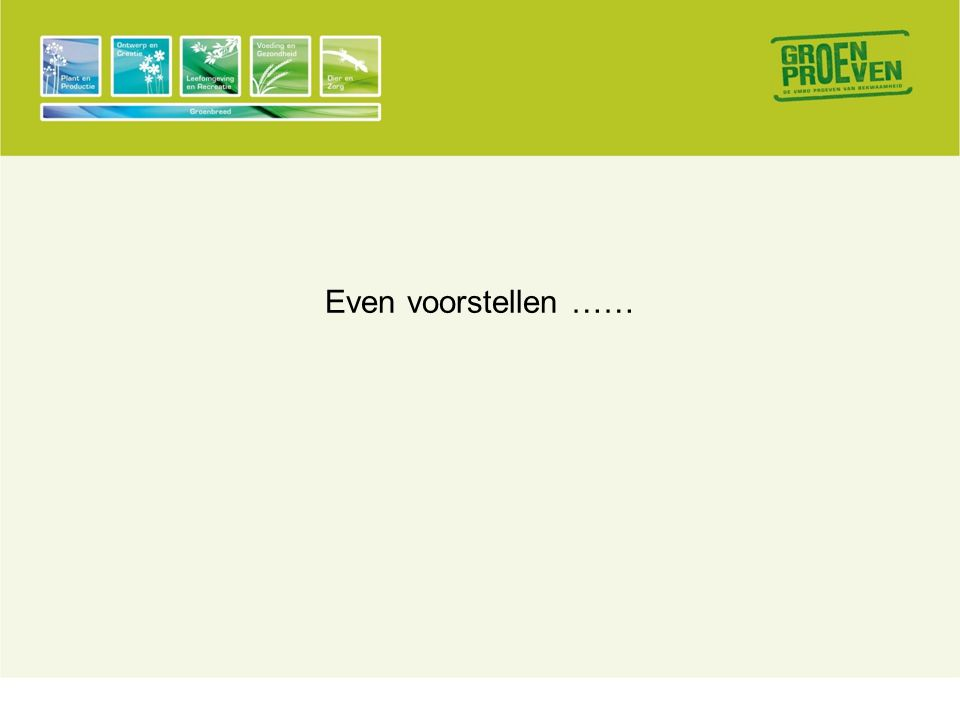 Even voorstellen ……