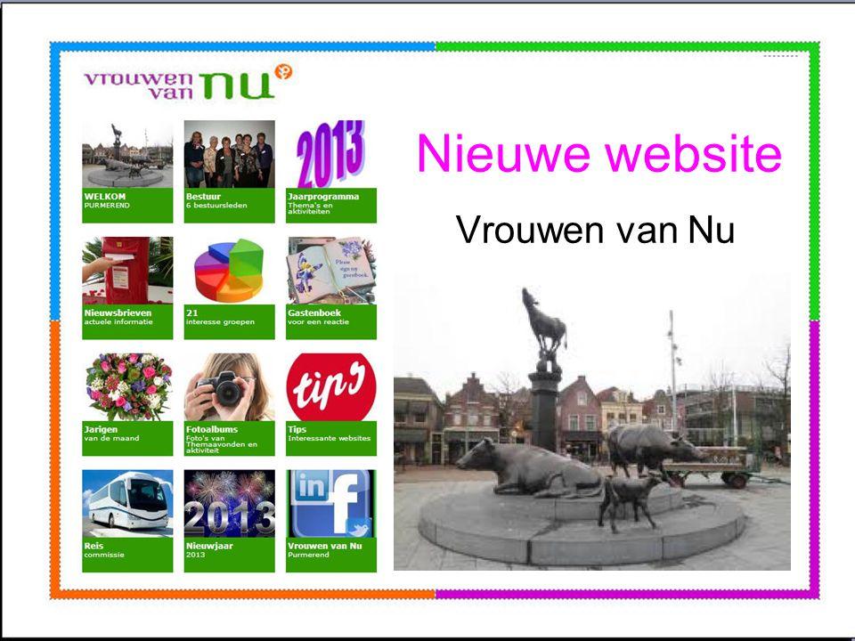 Nieuwe website Vrouwen van Nu