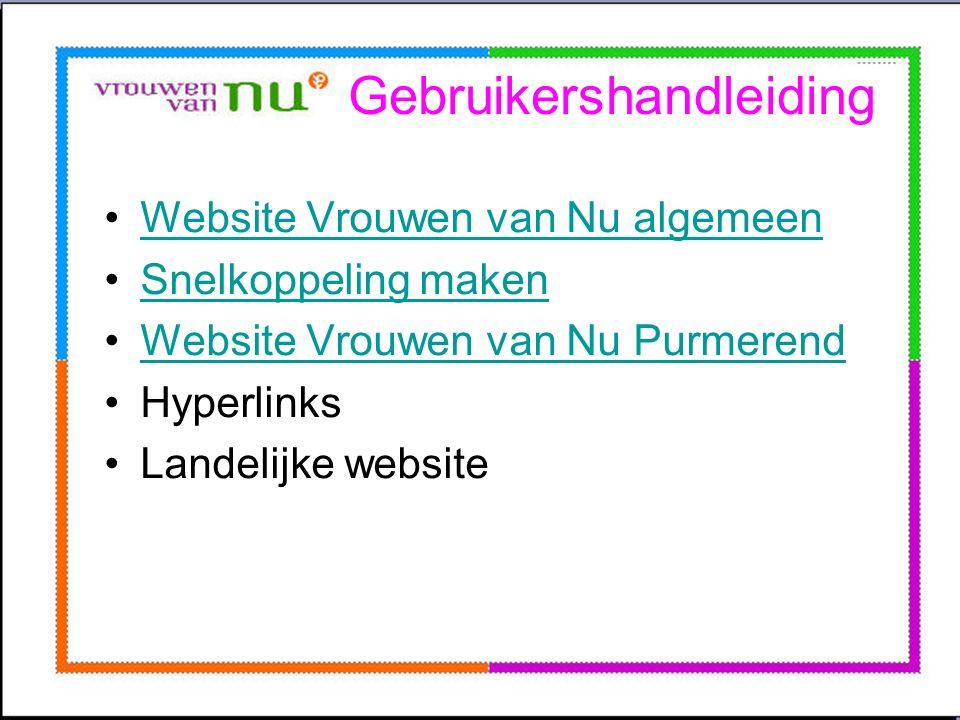 De website is te verdelen in drie delen: 1.Algemene menu-items 2.Afdeling menu-items 3.Fotoalbum en agenda/activiteiten Door een item aan te klikken, springt de website direct naar de webpagina waarop u de informatie kunt vinden.