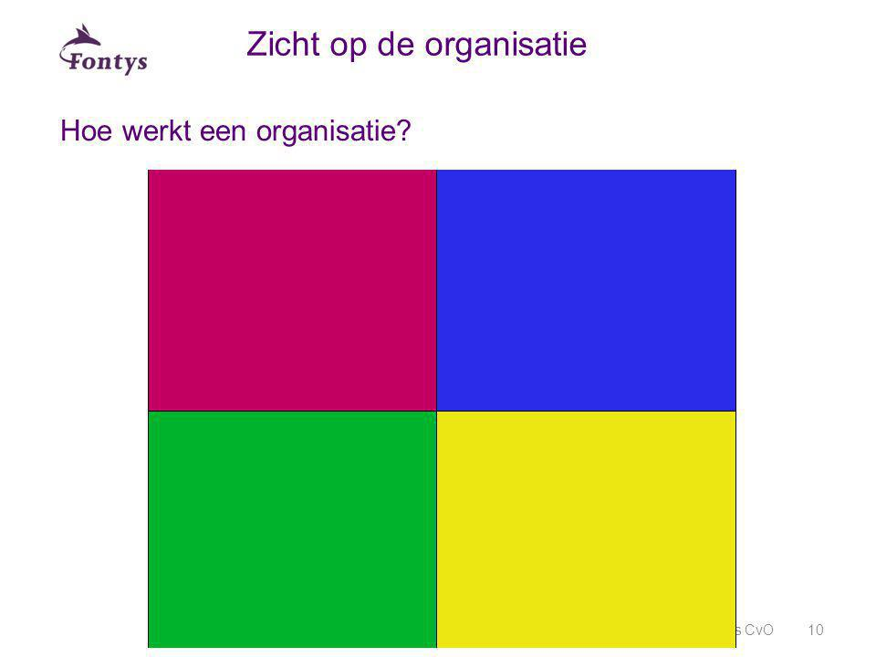 Hoe werkt een organisatie? Fontys CvO10 Zicht op de organisatie