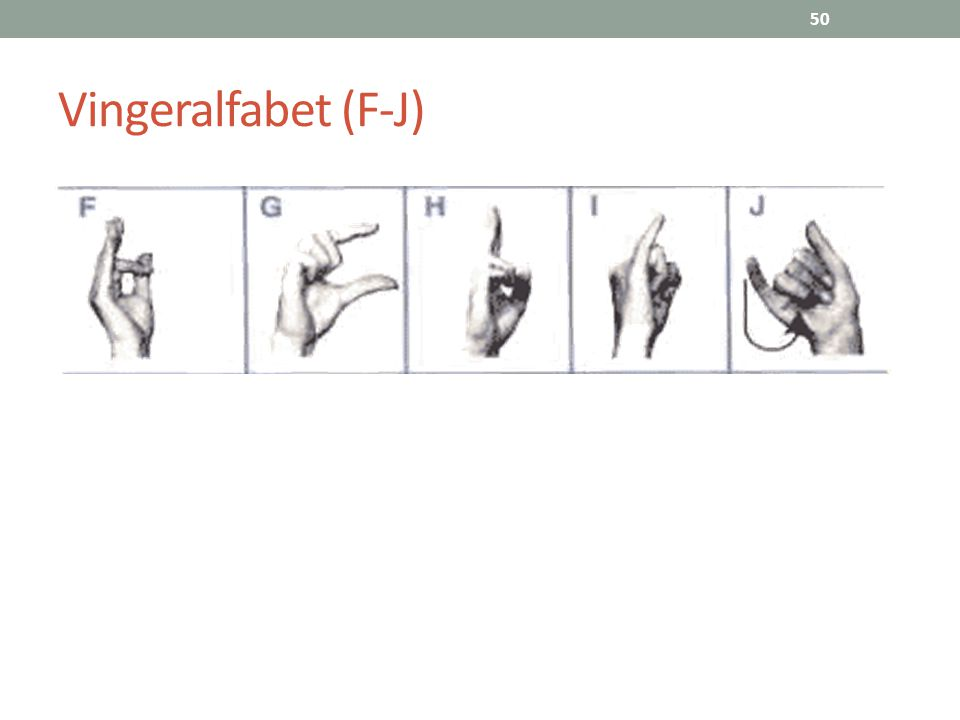 50 Vingeralfabet (F-J)