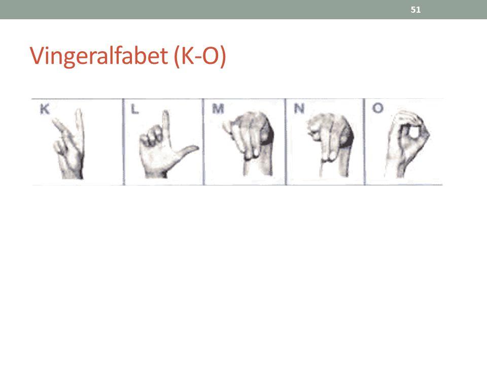 51 Vingeralfabet (K-O)