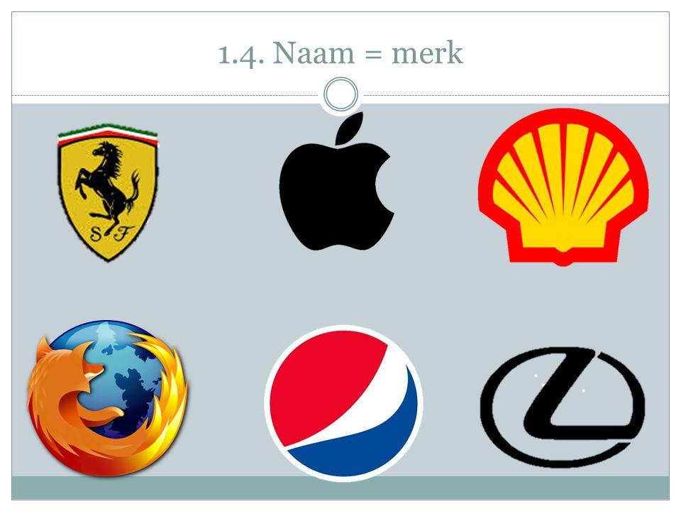 Opdracht 4:  Wat verstaan we onder een merknaam.
