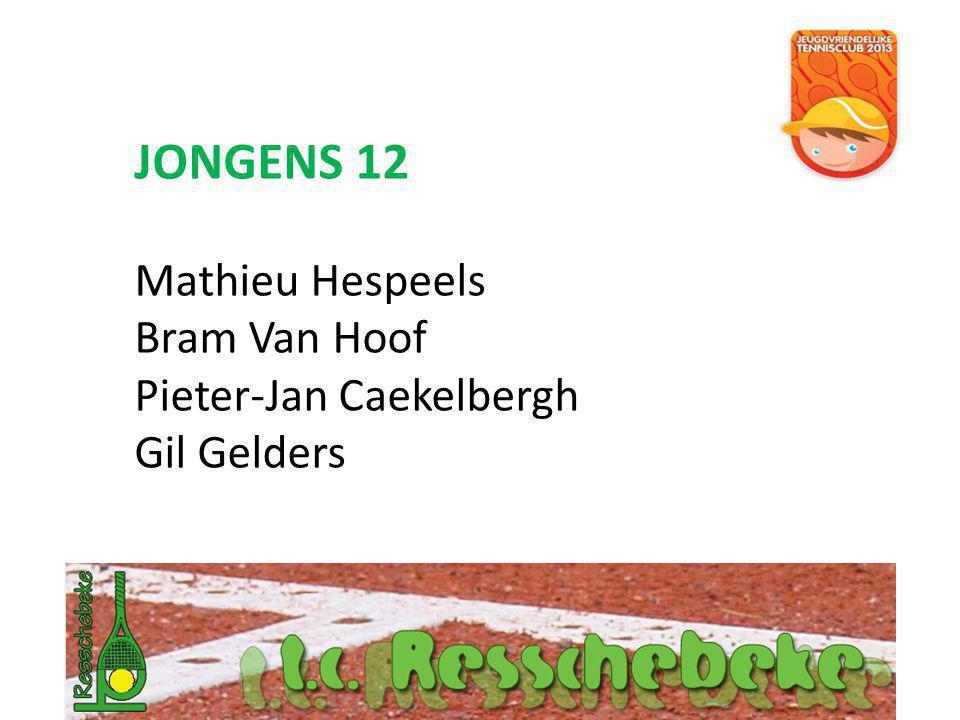 JONGENS 12 Mathieu Hespeels Bram Van Hoof Pieter-Jan Caekelbergh Gil Gelders