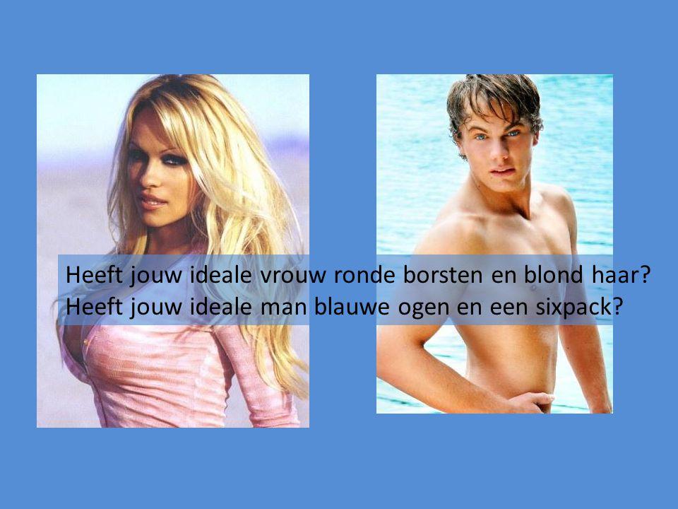 Heeft jouw ideale vrouw ronde borsten en blond haar? Heeft jouw ideale man blauwe ogen en een sixpack?
