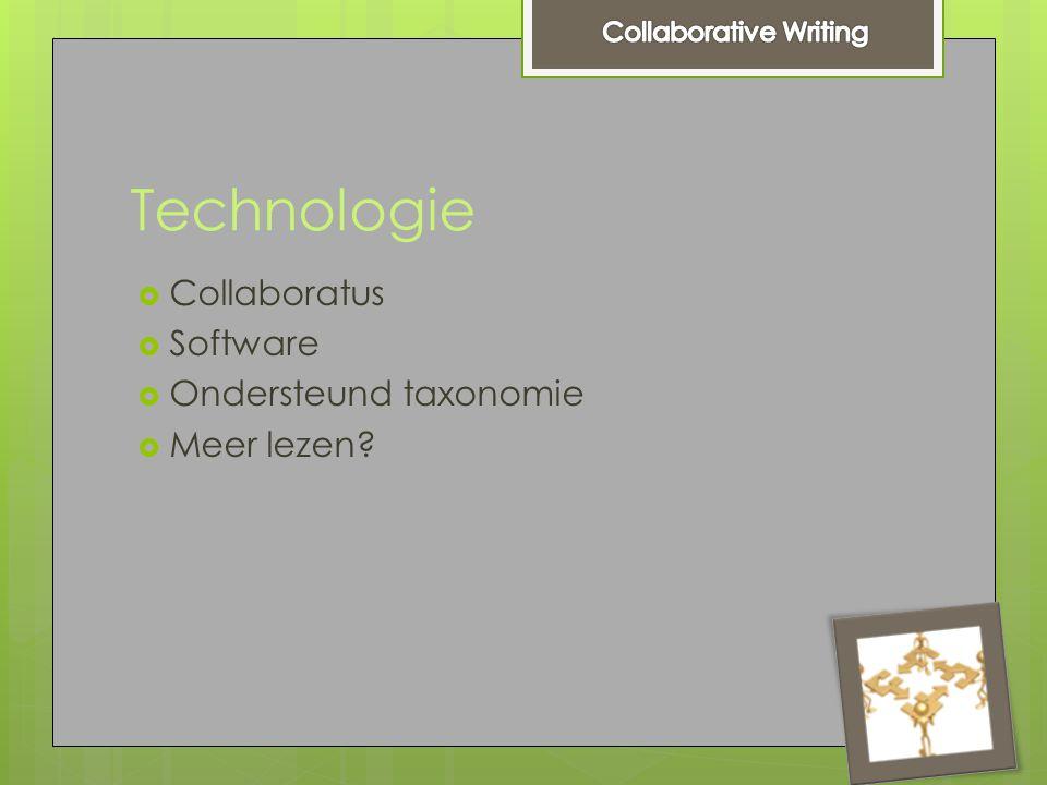 Technologie  Collaboratus  Software  Ondersteund taxonomie  Meer lezen